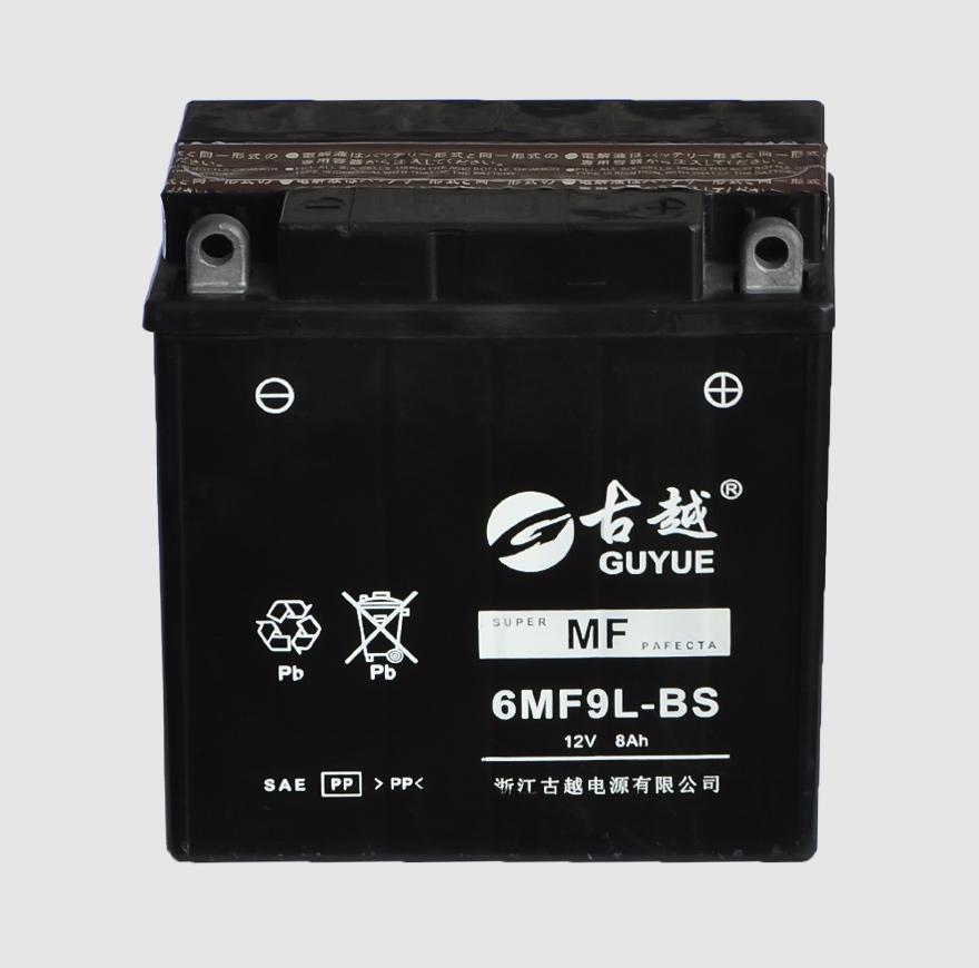 摩托车电池 6MF9L-BS